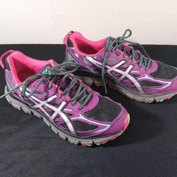 Asics Gel Scram 3 Purple Running Trail Shoes